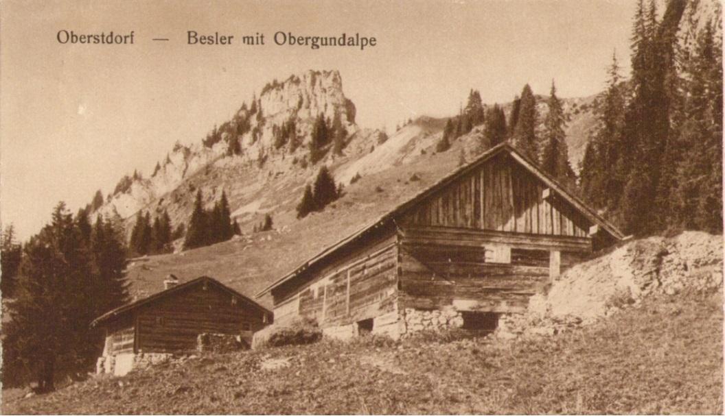 Besler und Obere Gundalpe um 1910 von Anton Hofmannpaint.jpg