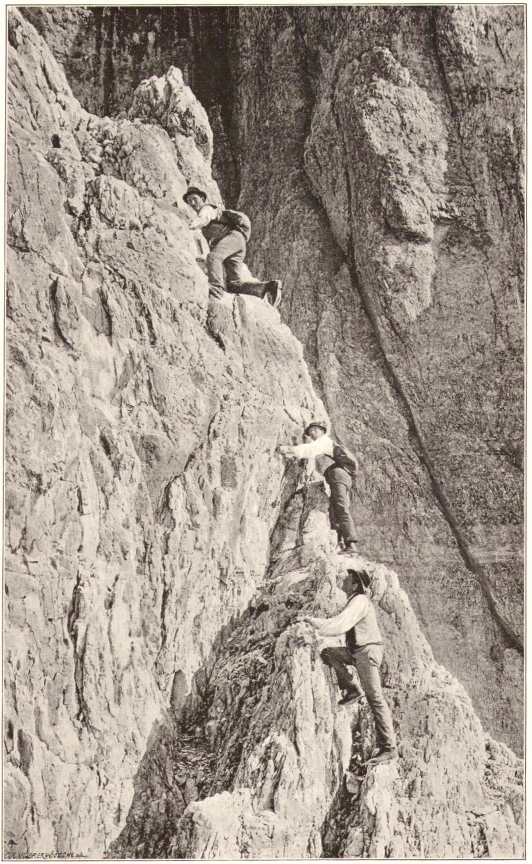 Wilhelm Paulcke - Kletterpartie an der Dreischusterspitze 1893p.jpg